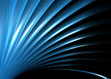 Blue wave and light. Abstract blue wave composition background Royalty Free Stock Images