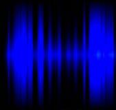 Blue wave light effect black background Stock Images