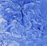 Blue wave like oil painting texture. Cobalt blue and white wave like palette knife oil painting texture Royalty Free Stock Photo
