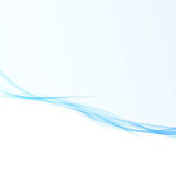 Blue wave lines design for business folder. Abstract graphic   Stock Photography