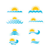 Blue wave logo design elements. abstract wave Royalty Free Stock Photo