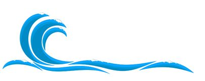 Blue wave logo. Royalty Free Stock Photos