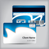Blue wave loyalty card design Stock Photography