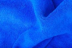 blue wave microfiber fabric texture. Stock Image