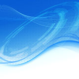 Blue wave - modern tech background Stock Photos