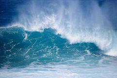 Blue wave. Wave in the blue ocean Royalty Free Stock Photography