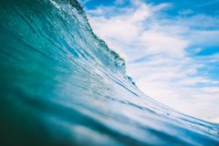 Blue wave in ocean. Big wave for surfing Stock Image