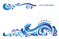 Blue wave stock illustration