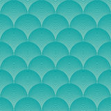Blue wave pattern Royalty Free Stock Images