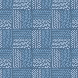 Blue wave pattern. Blue wave vector seamless pattern Stock Photography