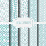 10 blue wave patterns Royalty Free Stock Photo
