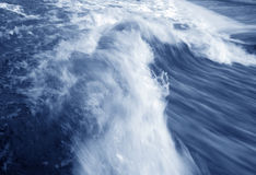 Blue wave - photo was taken long time exposure. A wave - photo was taken long time exposure Royalty Free Stock Image