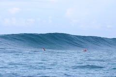 Blue wave samoa royalty free stock photo
