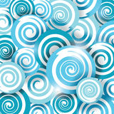 Blue wave sea, smooth twist light lines. Royalty Free Stock Image