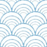 Blue wave seamless pattern. Grunge texture. Abstract background vector illustration