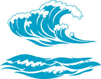 Blue Wave Surf Stock Image