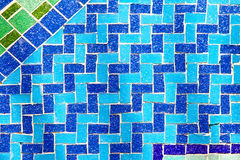 Blue wave tiles Stock Photography