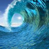 Blue wave twirl Stock Image