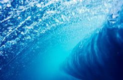 Blue Wave Underwater Perspective Stock Photography