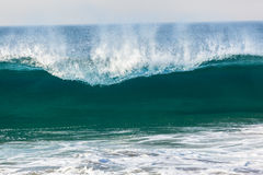 Blue Wave Wall Crashing Beach Royalty Free Stock Photos