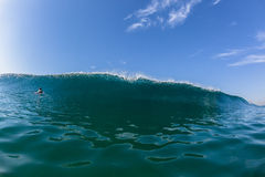 Blue Wave Wall Swimming Water Surfer Royalty Free Stock Image