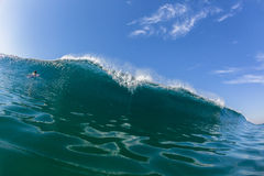 Blue Wave Wall Swimming Water Surfer Royalty Free Stock Photography