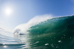 Blue Wave Wall Upright Swimming Water Royalty Free Stock Image