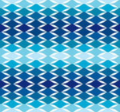 Blue wave water cool vector pattern background Royalty Free Stock Images