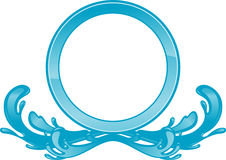 Blue Wave Water Insignia Stock Photos