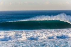 Blue Wave Shape Wall stock photos