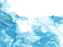 Free Blue Wave With Silver Creative Abstract Hand Painted Background, Marble Texture, Abstract Ocean, Acrylic Painting On Canvas Stock Photography - 186562282