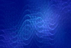 Blue Wavelengths Background Royalty Free Stock Image