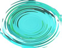 Blue waves. Blue circular waves with reflections from objects royalty free illustration