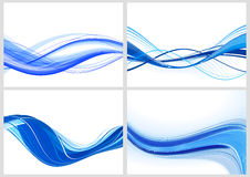 Blue waves. Set of the abstract blue design waves royalty free illustration