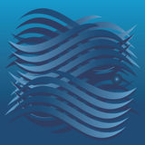 Blue waves. Stilized vector illustration of the fish in the waves Royalty Free Stock Image
