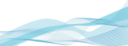 Blue waves. Abstract vector of blue waves on a white background stock illustration