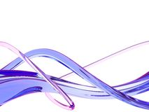 Blue waves. Glass interwearing of blue waves vector illustration