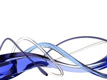 Blue waves. Glass interwearing of blue waves stock illustration