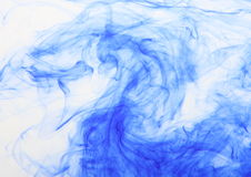 Blue waves. In white background Royalty Free Stock Photo