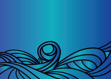 Blue Waves. Vector illustration Stock Photo