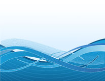 Blue waves. On white background Vector Illustration