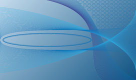 Blue waves. Vector background with oval for text Royalty Free Stock Photo