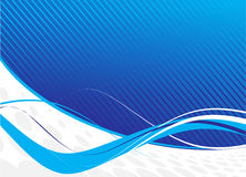 Blue waves abstract design Royalty Free Stock Image