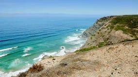 Blue waves Atlantic Ocean Algarve wide stock video