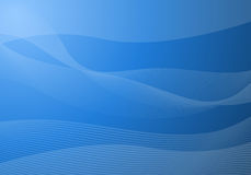 Blue waves background. Vector illustration of blue background with waves and lines stock illustration