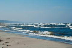 Blue waves on the Baltic Sea Royalty Free Stock Photography