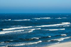 Blue waves on the Baltic Sea Stock Photo
