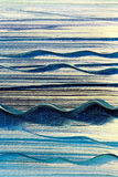 Blue Waves Canvas Background. Photo of blue waves painted on canvas for an abstract background Royalty Free Stock Photography