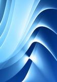 Blue waves design Stock Image