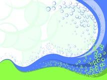 Blue waves design. Royalty Free Stock Photos